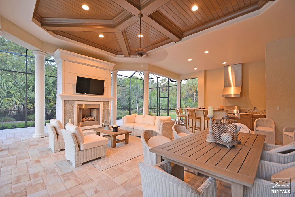 This vast lanai contains a complete outdoor living complex ... on Complete Outdoor Living id=99963