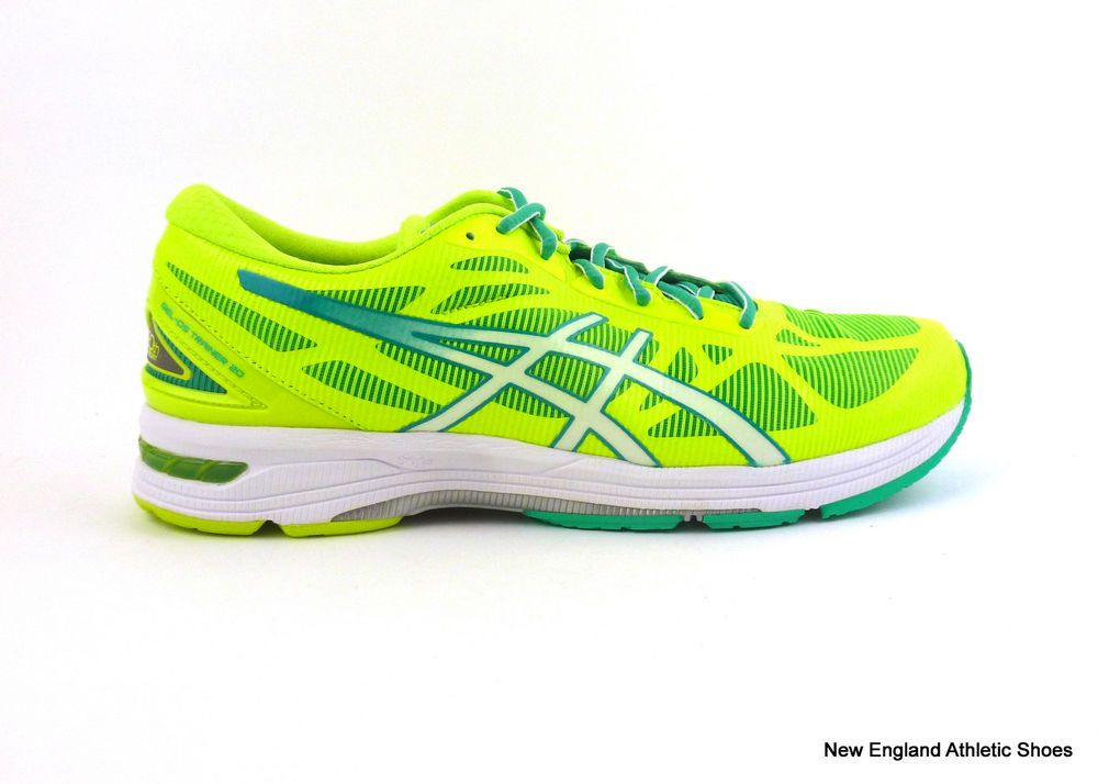 Asics women's Gel-DS Trainer training shoes size 11 Flash Yellow White Mint