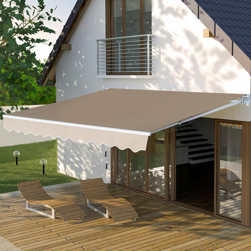 3 5 X 2 5m Retractable Patio Awning Retractable Awning Patio Outdoor