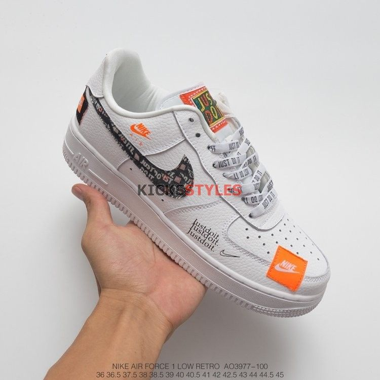 Nike Air Force 1 Low Just Do It Pack White Black Ar7719 100 Nike Air Force Air Force Air Force 1