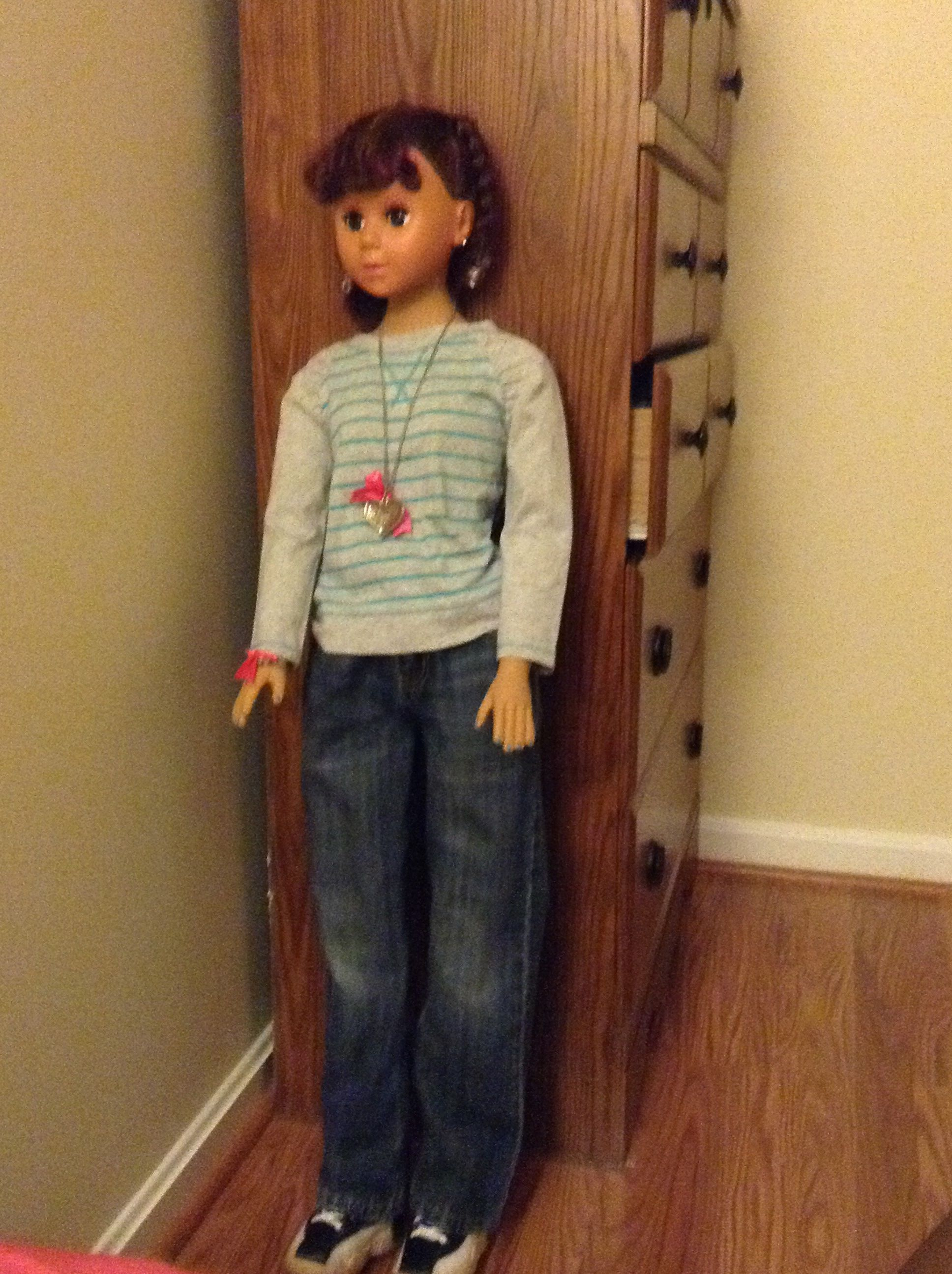 This Tall Doll N Stands At 42 Inches Wow Until I Added