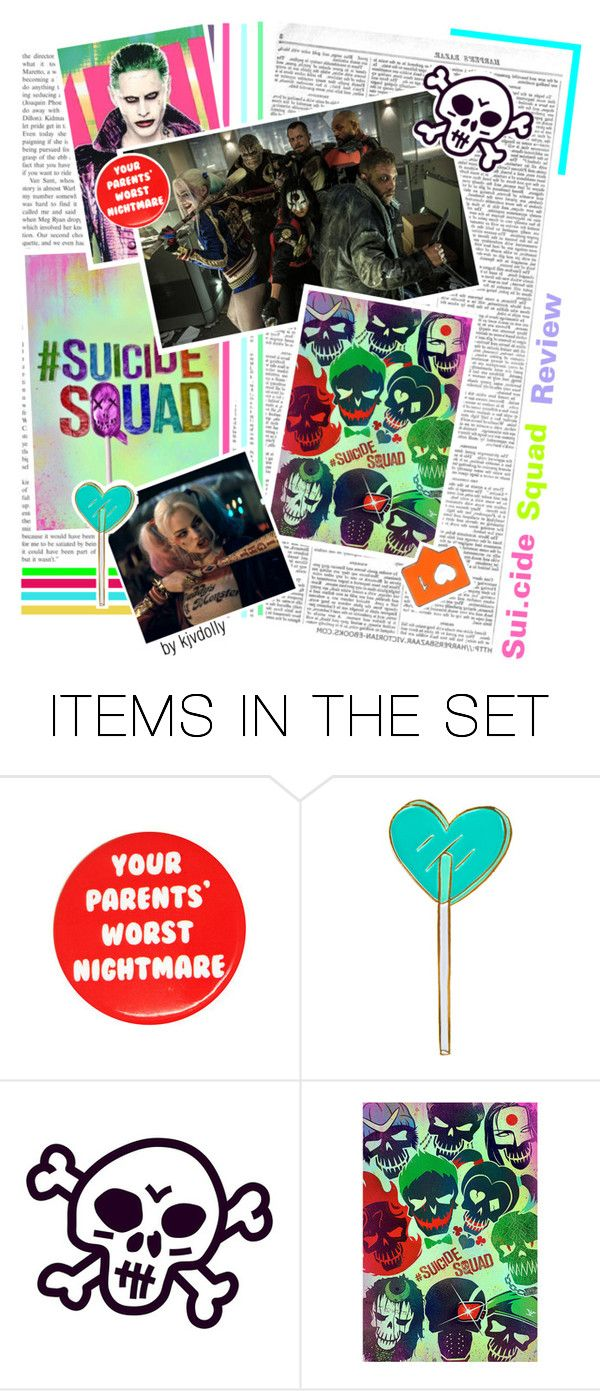 """""""Sui.cide Squad Review"""" by kjvdolly ❤ liked on Polyvore featuring art and dollyreveiws"""