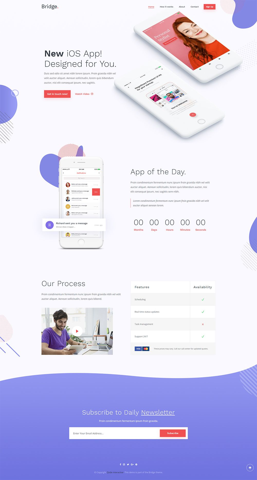 Set up a stunning app landing page in no time with Bridge