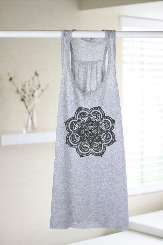 Blusas para mujer - flor de Henna - tapa del tanque de las mujeres ...