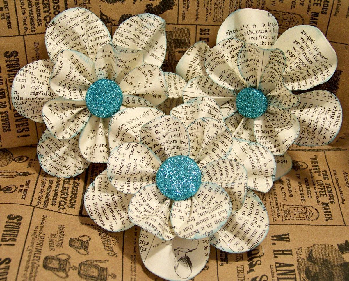 vintage paper flower ideas fr hling ostern pinterest basteln mit zeitungspapier blumen. Black Bedroom Furniture Sets. Home Design Ideas