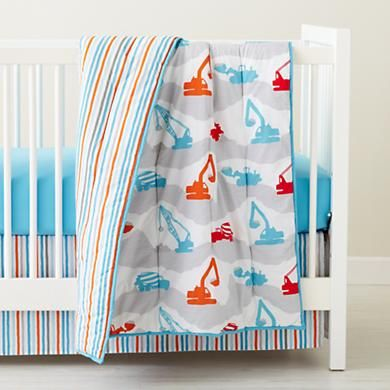 The Land Of Nod Construction Zone Crib Bedding We Only Purchased Sheet And Skirt As Like Colors Didn T Want Themed