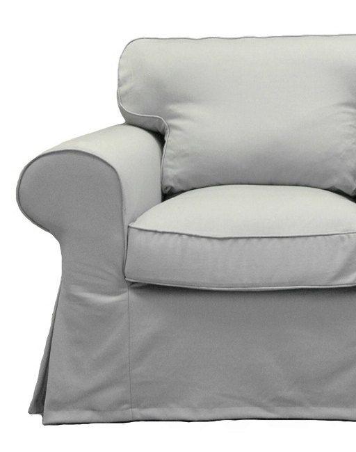 Ikea Ektorp Loveseat Custom Slipcover In Denim Twill 248