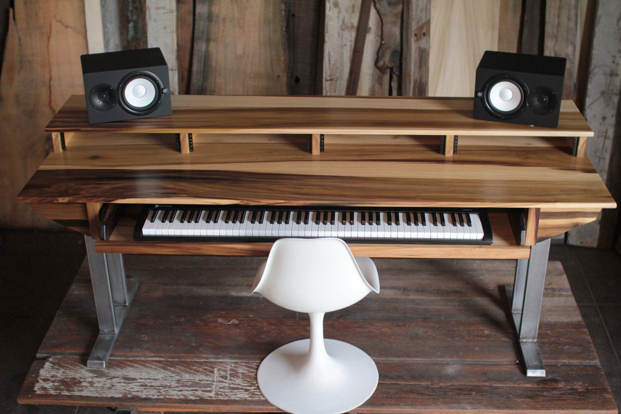 full size 88key studio desk for audio video music film production in 2019 music magic. Black Bedroom Furniture Sets. Home Design Ideas