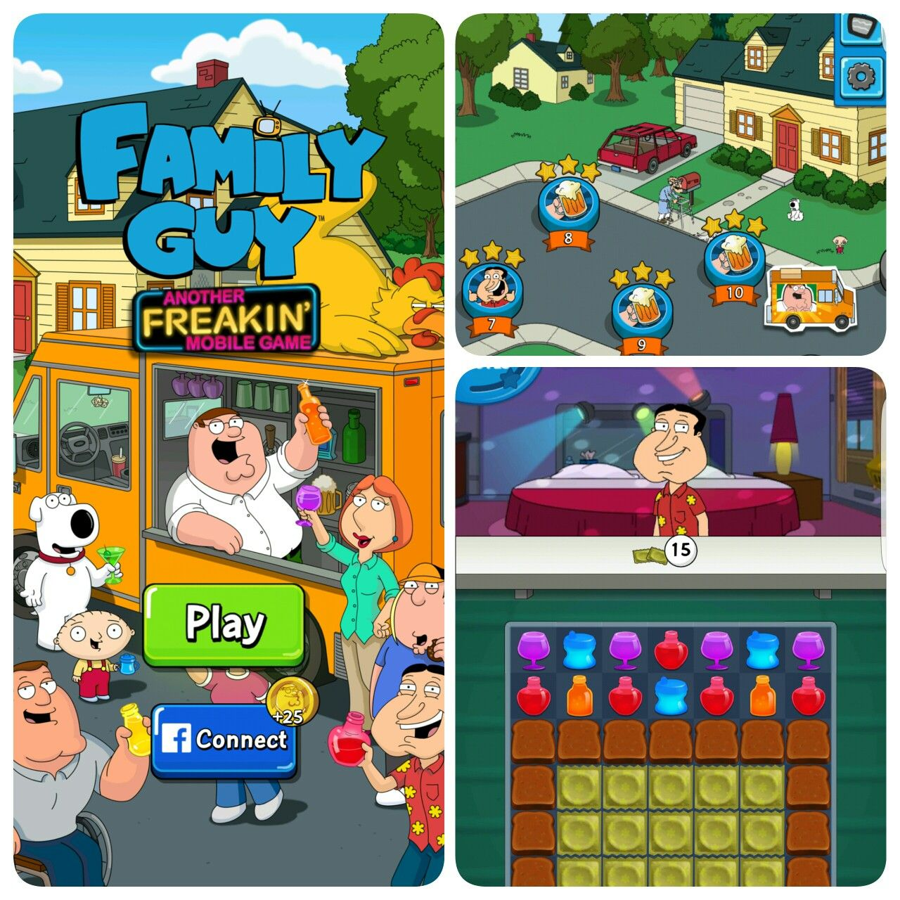 Family Guy Another Freaking Mobile Game Match3 puzzle