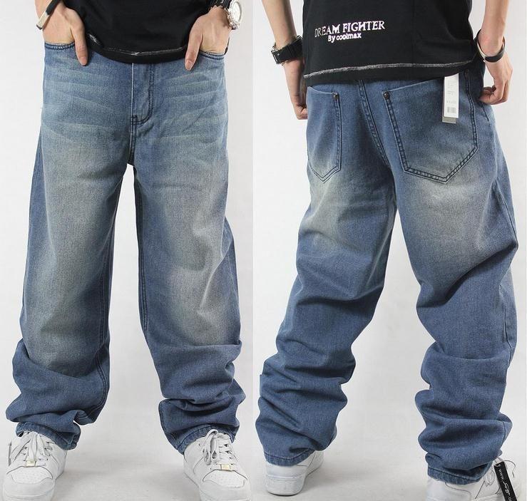 c43c3498 Man loose jeans hiphop skateboard jeans baggy pants denim pants hip hop men