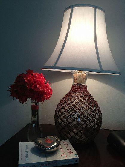Now I know what to do w/my glass vase since my boyfriend never buys me flowers.  =)