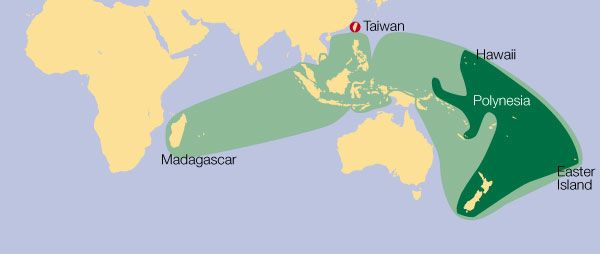 Malagasy and the Austronesian Language Family - Languages Of The - new taiwan world map images