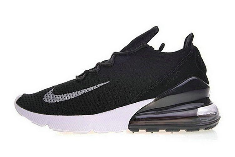 I Più Nuovi Nike Air Max 270 Flyknit Nero Bianca Ah6803 001
