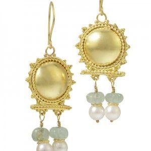 22k Gold Roman Style Earrings By Nancy Troske