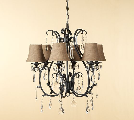 Celeste Crystal Chandelier With Images Chandelier Pottery Barn Chandelier Iron Lighting