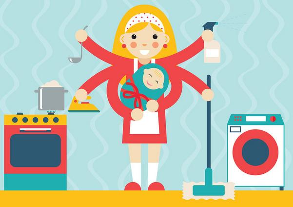 كيف اكون نشيطة في شغل البيت Business Card Inspiration Icon Illustration Concept Design