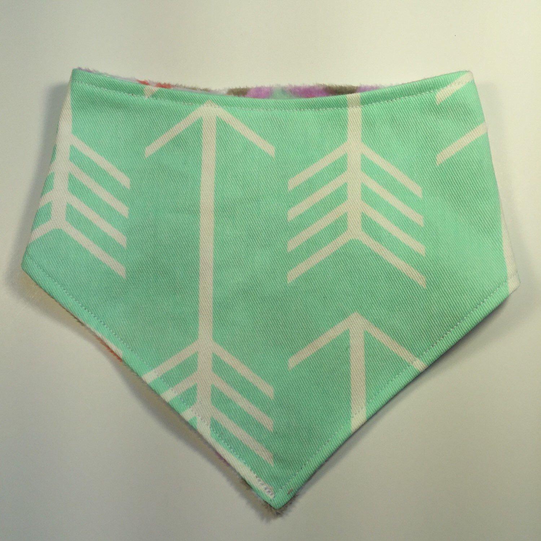 A personal favorite from my Etsy shop https://www.etsy.com/listing/278117688/amazing-arrow-reversible-minky-bandana