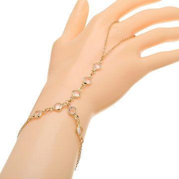 Artificial de cristal bracelete dourado