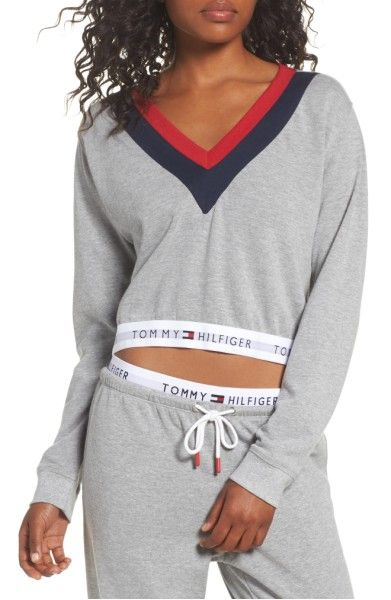 4306571ba72212 Main Image - Tommy Hilfiger TH Retro Crop Top