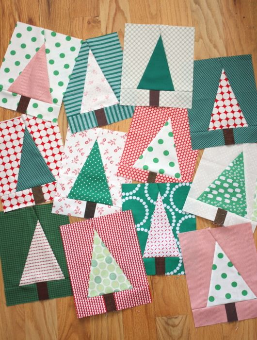 Christmas Tree Quilt Block Pattern Tutorial Christmas