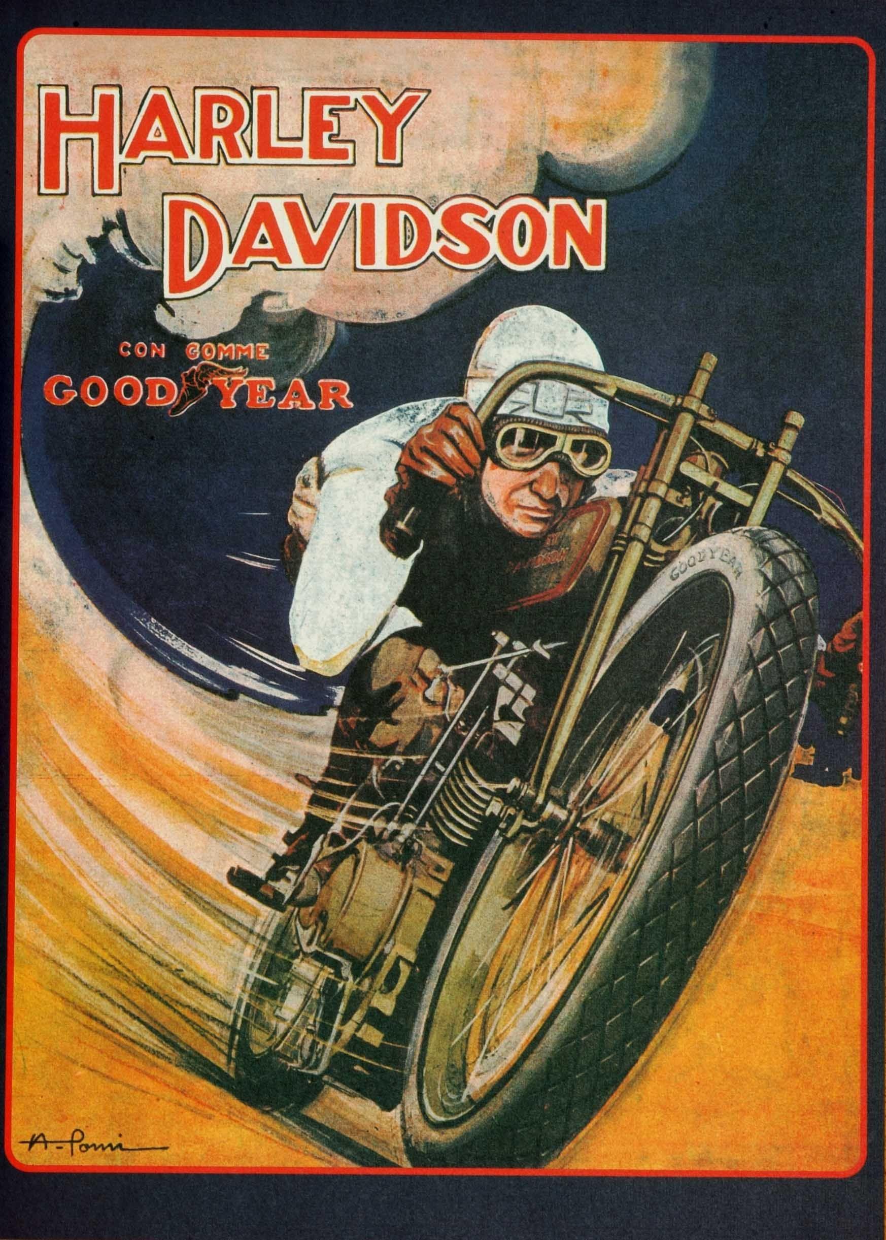 Harley Racer Harley Davidson Posters Vintage Motorcycle Posters Vintage Harley