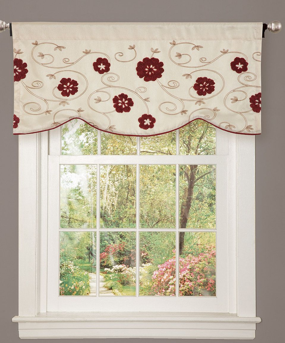 Kitchen window treatments  love this red embrace valance by on zulily zulilyfinds  for the