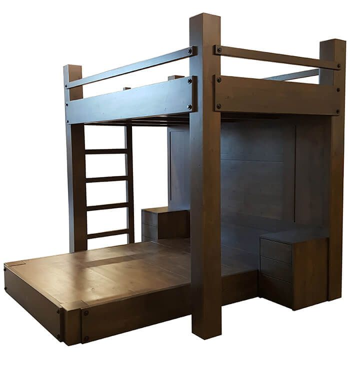 online store bc787 38e4e High End Loft Bed | Nathan's Forest in 2019 | Adult bunk ...