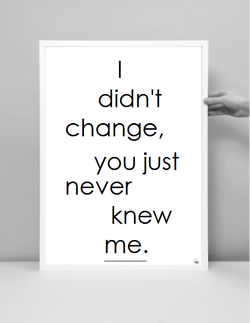 I Didnt Change You Just Never Knew Me Inspiration Pinterest
