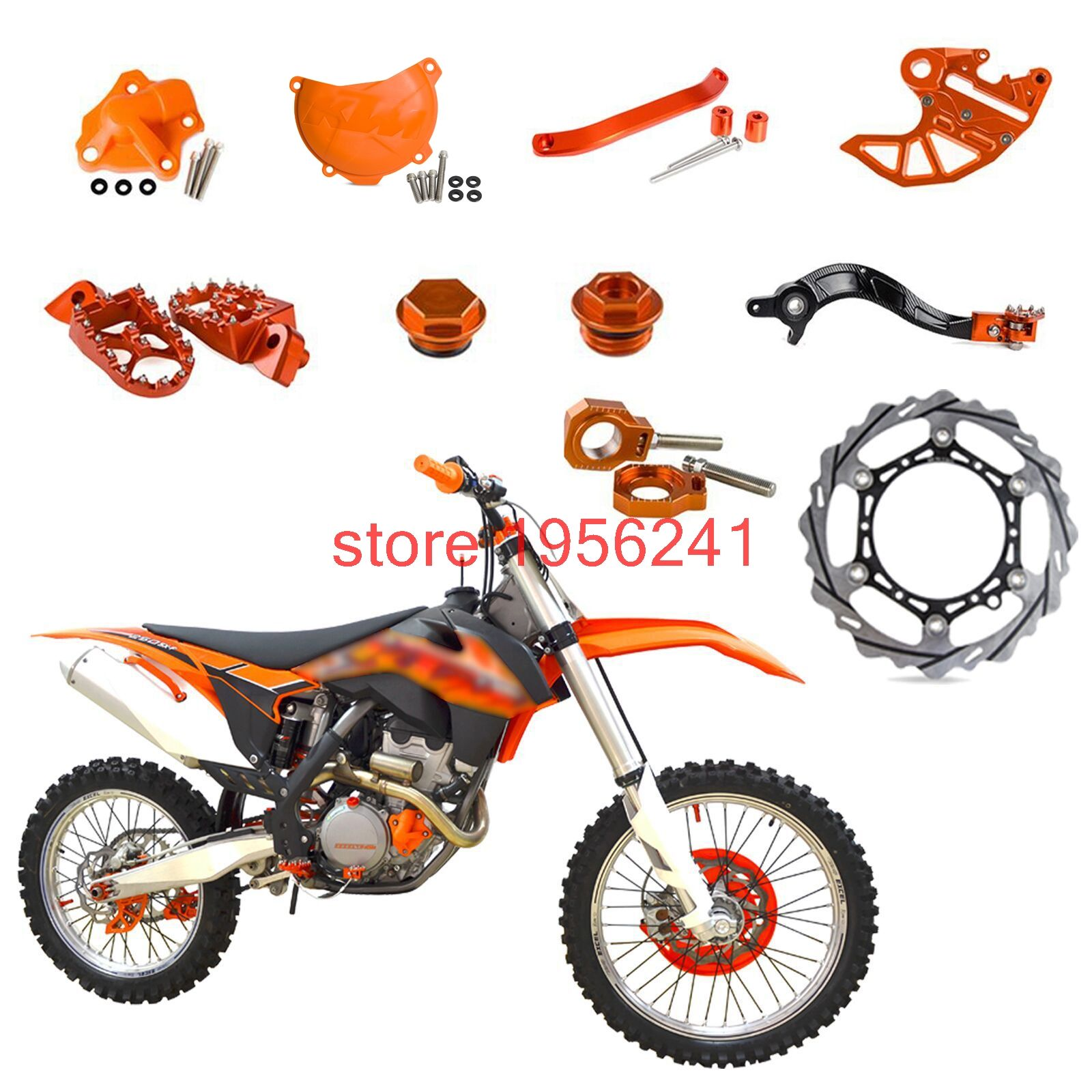 Front Brake Disc Footrest Water Pump Cover Rear Brake Pedal Lever Other For Ktm 250 Sxf Sx F Exc F Xcf Xc F Xcf W Ktm 250 Ktm 250 Exc Ktm