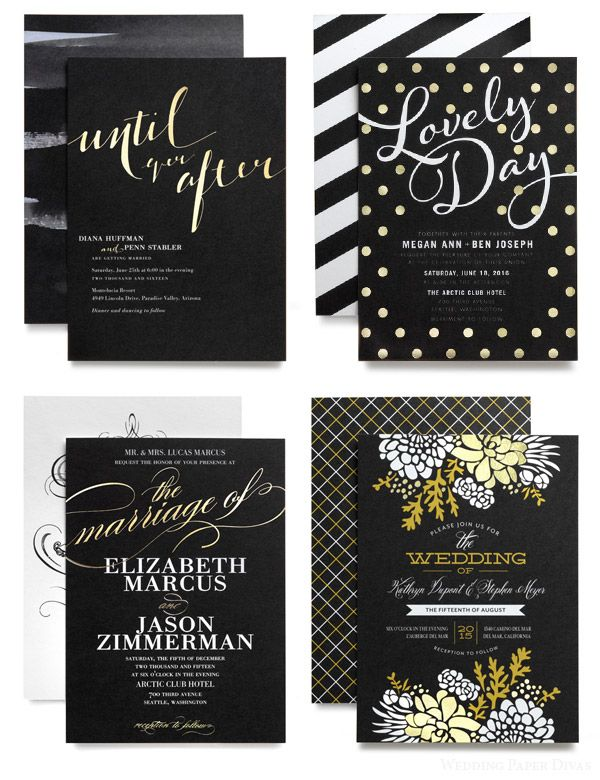 Wedding Paper Divas Foil Stamped Invitations \ DIY Goodies u2014 Sponsor - wedding invitation design surabaya