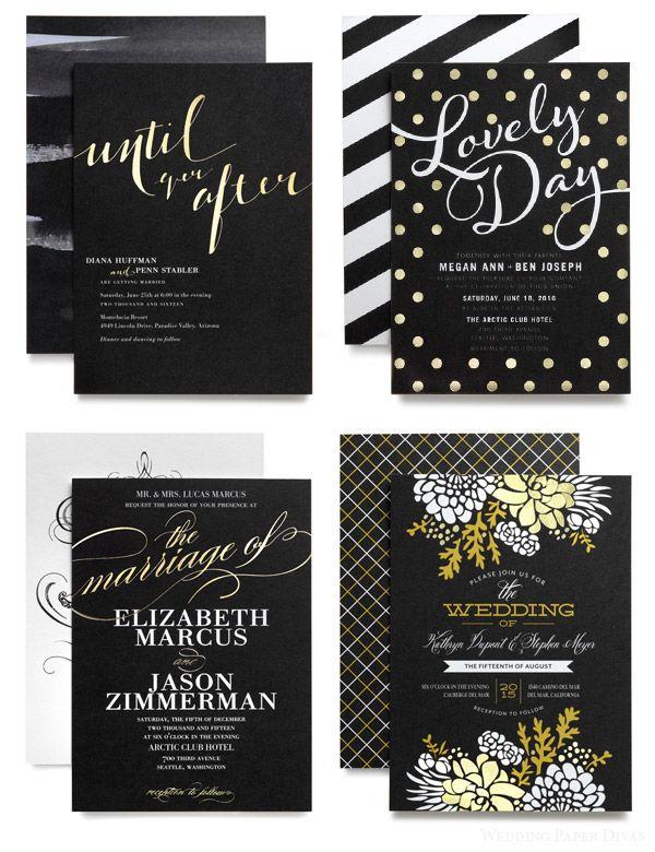 Wedding Paper Divas Foil Stamped Designs