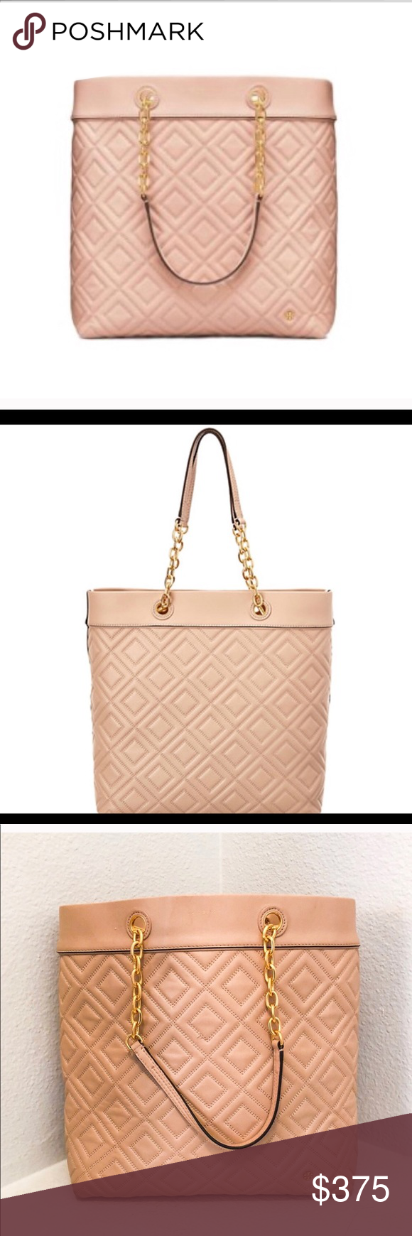 Tory Burch Fleming Tote Large New Mink