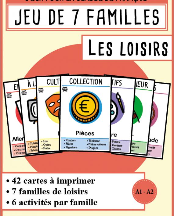 Berühmt 7 familles de loisirs | Mondolinguo - Français | Montessori  WQ95