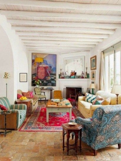 64 Incredible Colorful Bohemian Living Room Ideas For Inspiration images