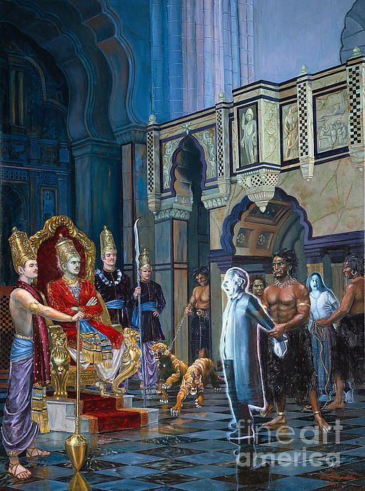 The Court Of Yamaraja By Dominique Amendola Hindu Art Art