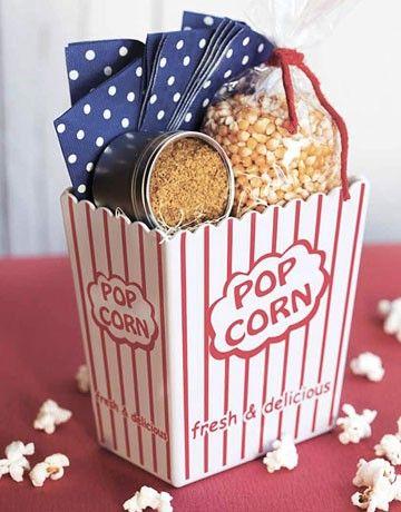Popcorn Basket Popcorn Gift Food Gifts Diy Gift Baskets