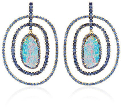 Shawn Ames Rainbow Earrings With Opals