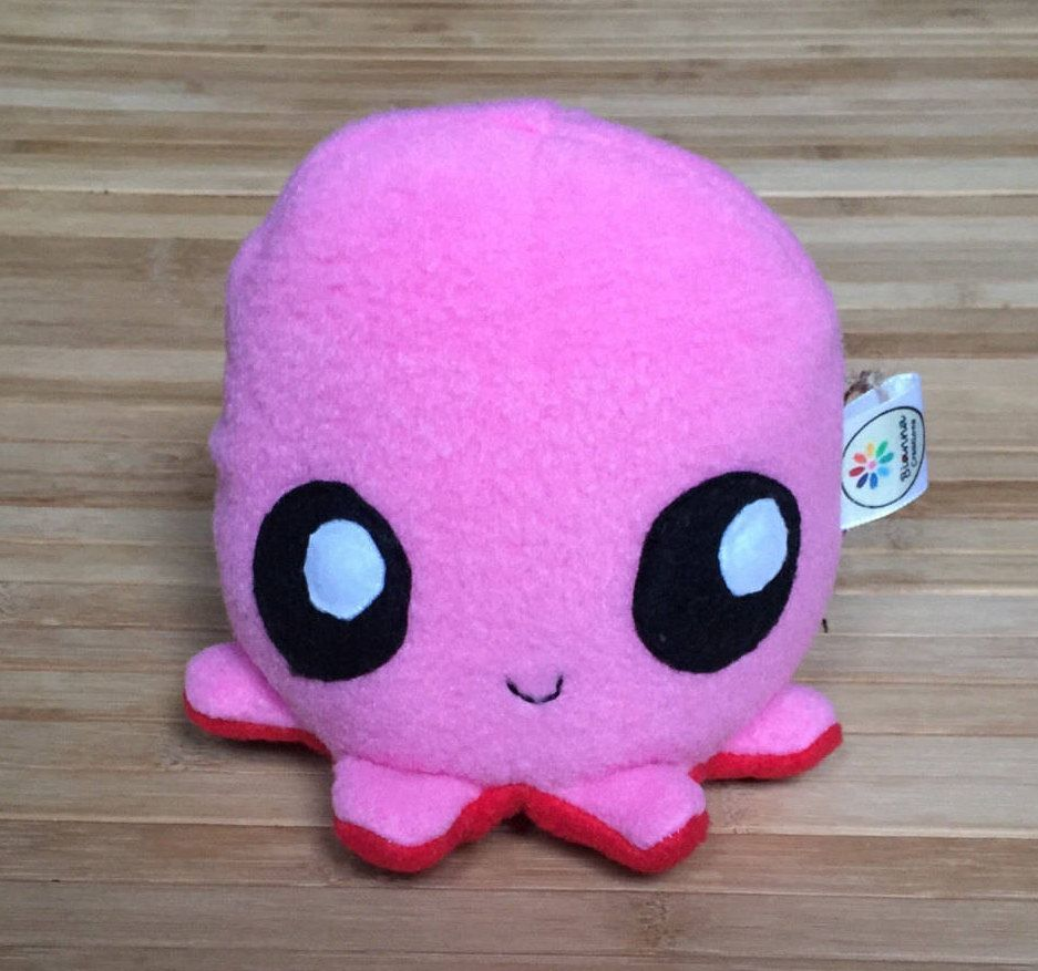 Japanese Kawaii Octopus Toy : Kawaii friend pink and red tako baby octopus plush toy