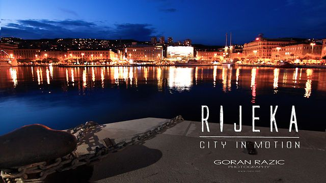 Rijeka - City in Motion (trailer) by Goran Razic Photography. Rijeka - City in Motion is a project whose main goal is promotion of the City of Rijeka and the whole region, but from a different perspective and in a little bit unusual way. The City of culture, music, sports, and above all diversity and tolerance, will be presented in a short movie  with a unique combination of Timelapse (mainly), superslow-motion and composite images/movies creating modern and enjoyable movie.