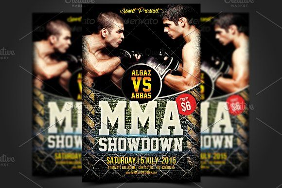 Mma Showdown Flyer Template  Flyer Template Mma And Adobe