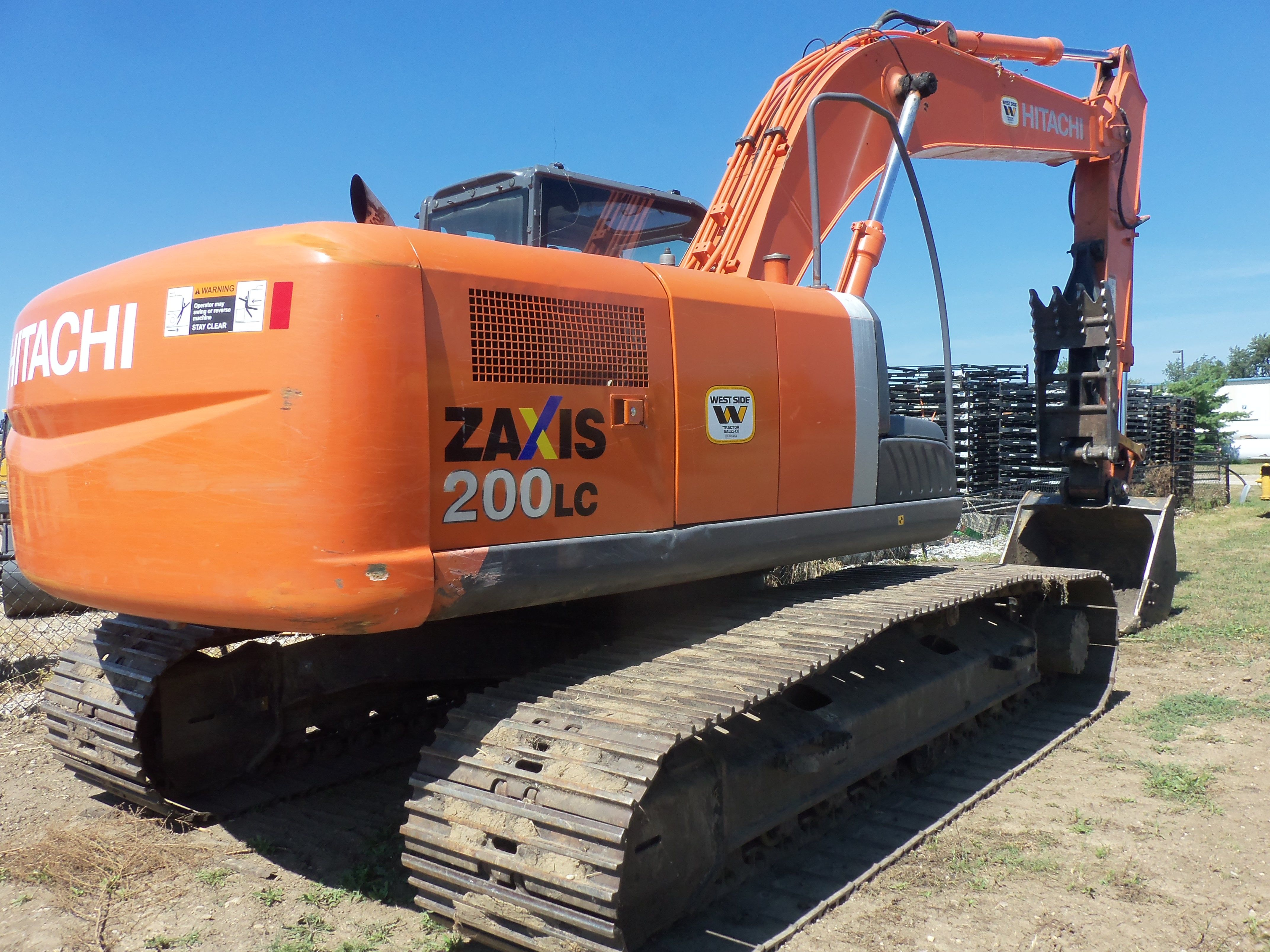 Hitachi Zaxis 200 LC hydraulic excavator Hydraulic Excavator, Heavy  Equipment, Construction, Transportation,