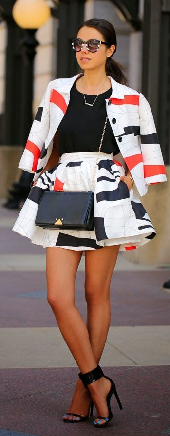 Graphic Skirt Suits