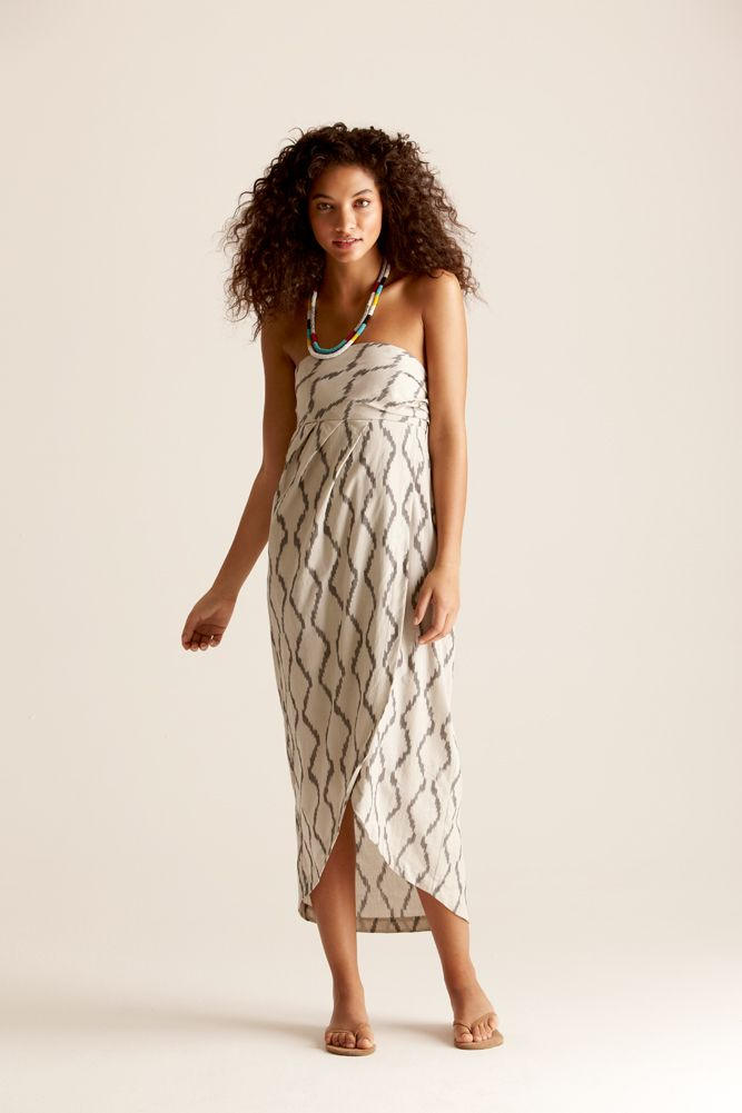 love the pattern and draping of the skirt