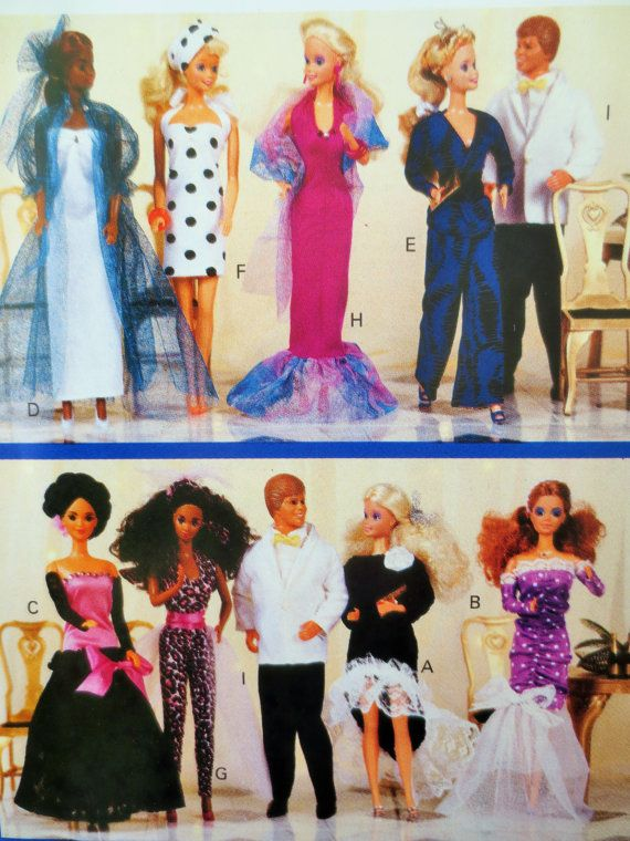 Vintage Butterick 4533 Sewing Pattern, 1980s Doll Clothes, Wendy ...