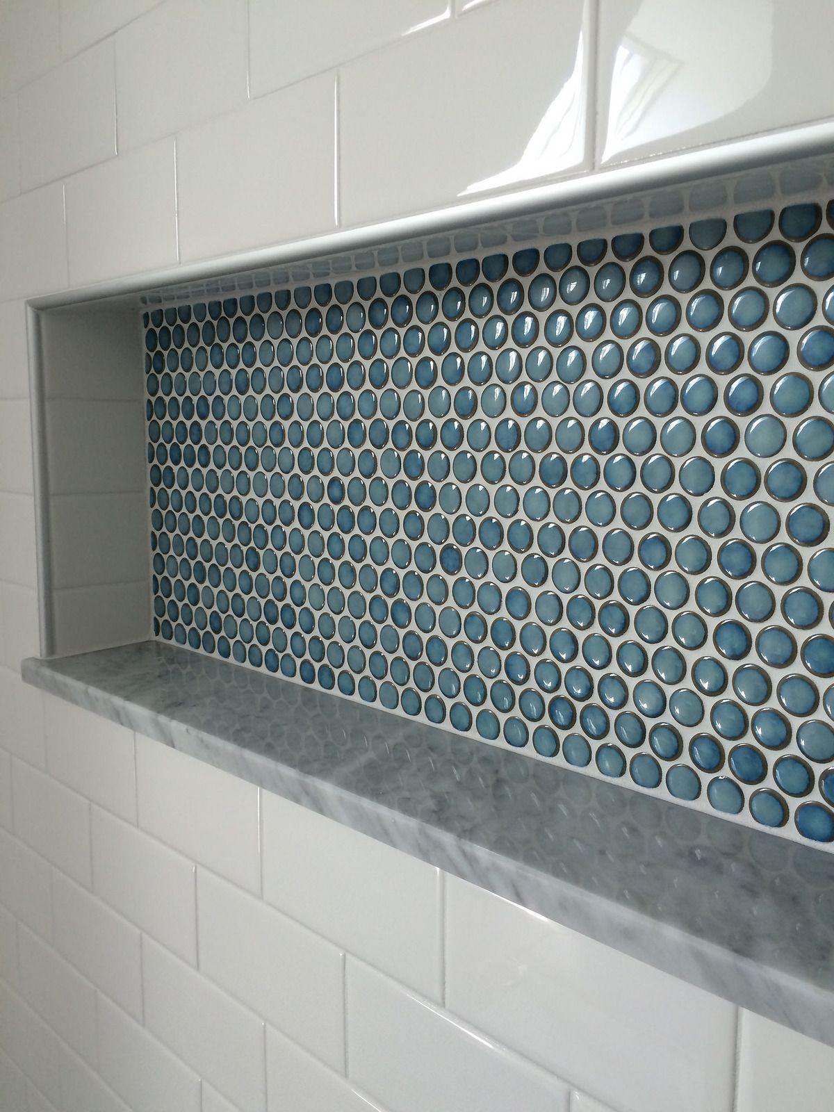 Penny tile shower nice | Pinterest | Bäder ideen, Badezimmer und Ausbau