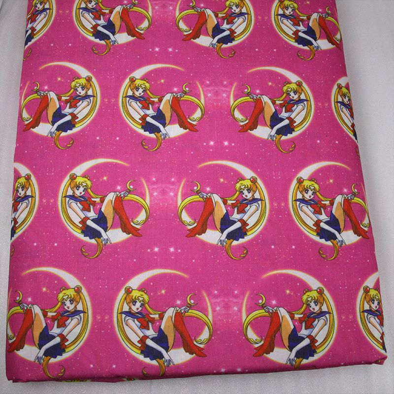 43735 50 147cm Cartoon Sailor Moon Fabric For Sewing Diy Quilting Patchwork Tissue Kids Bedding Textile Tilda Doll C Diy Quilt Arts Crafts Sewing Sewing Fabric