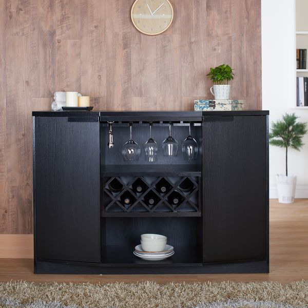 Furniture of America Chapline Modern Wine Bar Buffet - Overstock ...