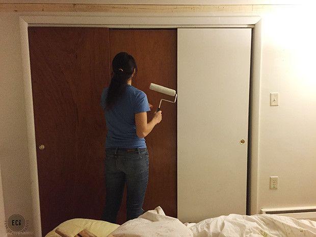 Diy Faux Barn Doors Hollow Core Door Makeover Hollow Core Door Makeover Door Makeover Hollow Core Door Makeover Diy