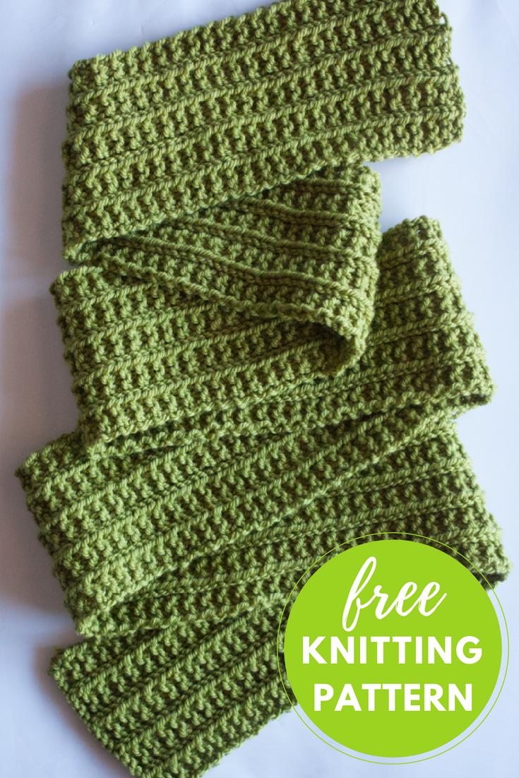 Wainscot Scarf Free Knitting Pattern   Free scarf knitting patterns ...