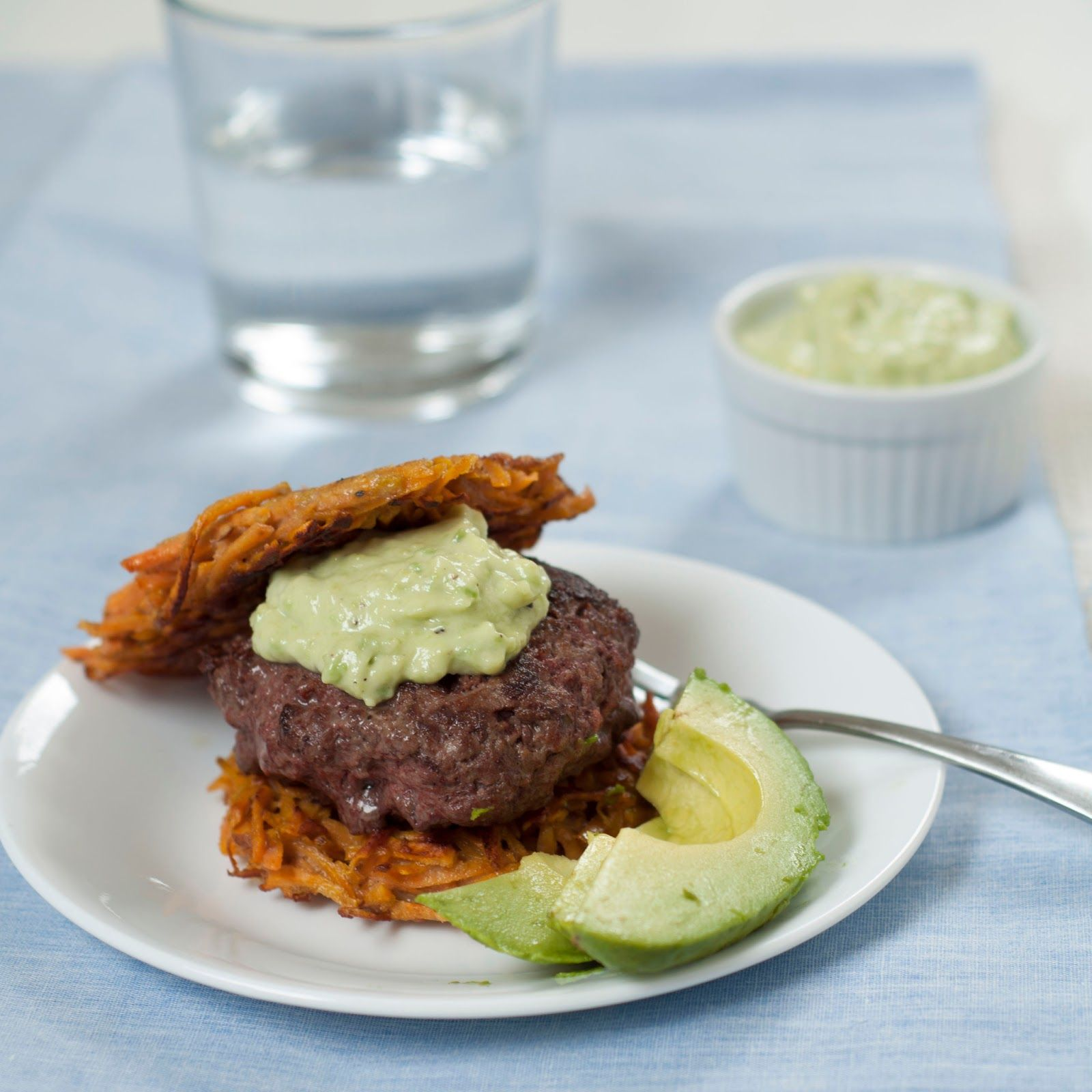 Burgers with Sweet Potato Buns and Avocado Lime Mayo |A Finn In The ...
